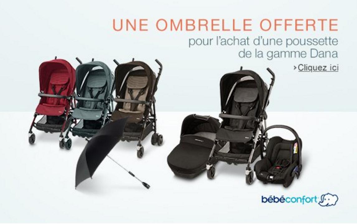 promotion b b confort une ombrelle offerte royaume b b. Black Bedroom Furniture Sets. Home Design Ideas