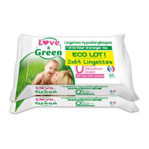 Lingettes bio Love&Green